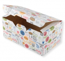Упаковка ECO FAST FOOD BOX L «Enjoy» 150*91*70,900мл (400шт/кор)